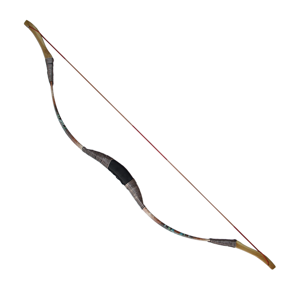 "Фотография 30LBS 50"" Traditional Recurve Bow Archery Hunting Longbow Colorful Leather Bow Women or Youth Recurcve Bow"