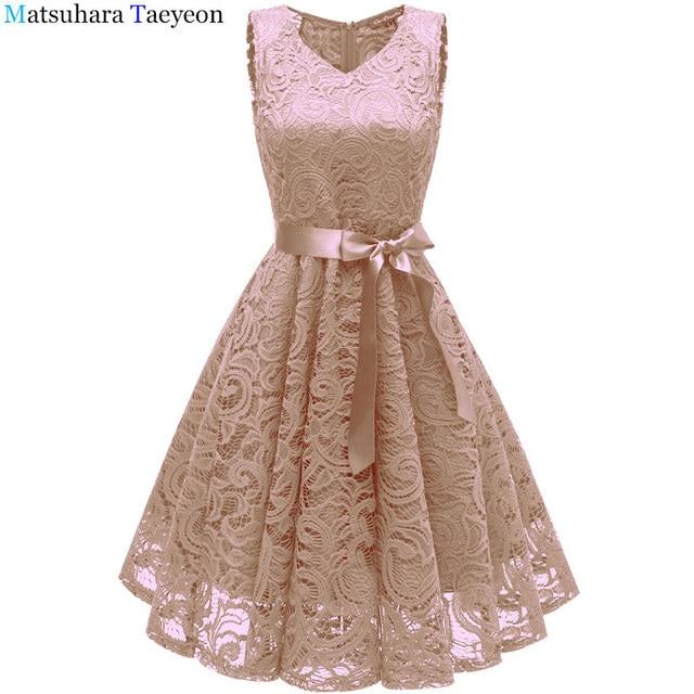 8e839ad32c Lace Dresses Ever Pretty Elegant V-neck High Waist Tea Length Fashionable  Affordable Party Dresses for Women