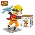 Uzumaki naruto loz tijolos blocos de construção de brinquedos de ação figura brinquedos estatueta brinquedo educativo juguetes crianças jouet enfant