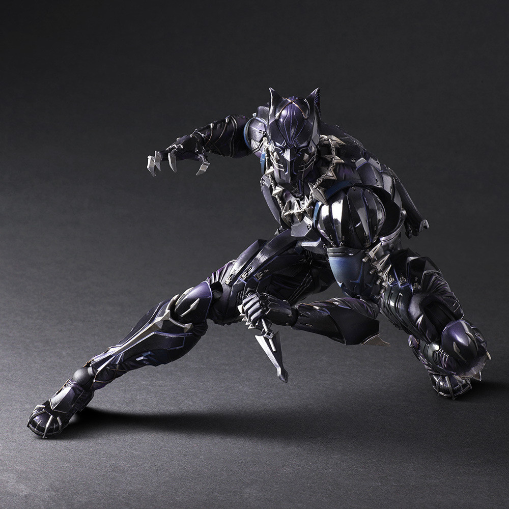27cm Black Panther Avengers Action Figure  Super Hero Toy with Color Box Christmas Gift new hot 22cm avengers super hero hulk movable action figure toys christmas gift doll with box