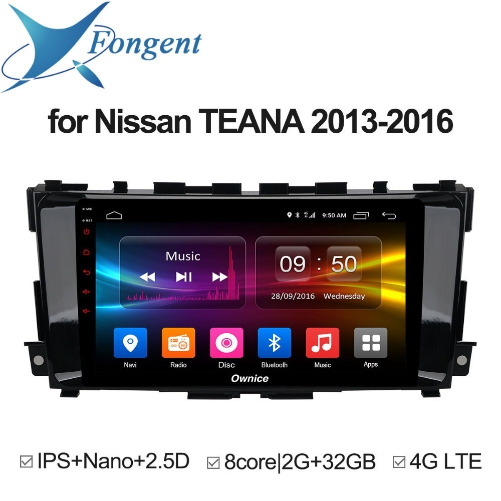 for nissan teana altima 2013 2014 2015 2016 Android Unit Car 1 2 din radio GPS Navigator DVD Multimeida Player Carplay Stereo pc