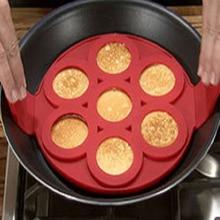 7 Cavidad Flippin' Antiadherente Panqueque Perfecto Huevo Tortillas Panqueques Hash Fantástico Pastelería Herramientas Herramientas de la Torta Del Molde de Silicona