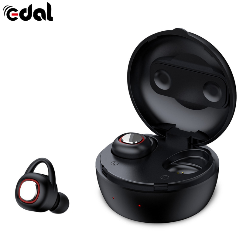 EDAL Wireless Bluetooth headsets portable sports Mini stealth headphones HIFI Sound Universal for ios with charge box lexin 2pcs max2 motorcycle bluetooth helmet intercommunicador wireless bt moto waterproof interphone intercom headsets