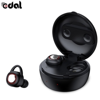 EDAL Wireless Bluetooth Headsets Portable Sports Mini Stealth Headphones HIFI Sound Universal For Ios With Charge