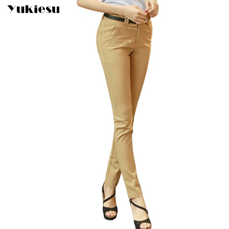 Formal   pants   women 2017 spring OL office skinny slim casual suit pencil   pants     capris   female trousers bottoms pantalon mujer