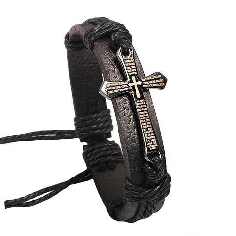 Janeyacy 2018 высококачественный кожаный браслет мужской модный