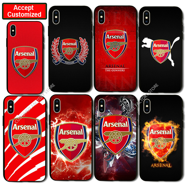 size 40 49605 2db9e US $4.95 |Arsenal Logo Print Shell Cover Case for iPhone 5 5S SE 6 6S 7 8  Plus X XS Max XR Samsung Galaxy Note 8 9 S6 S7 S8 S9 Edge Plus-in Fitted ...
