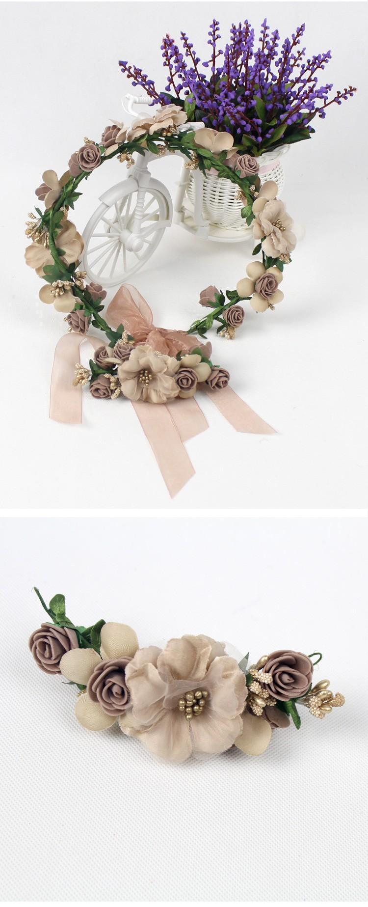 Wedding Flower Crown For Sale Vintage Bohemia Style Flora Hair Hoop