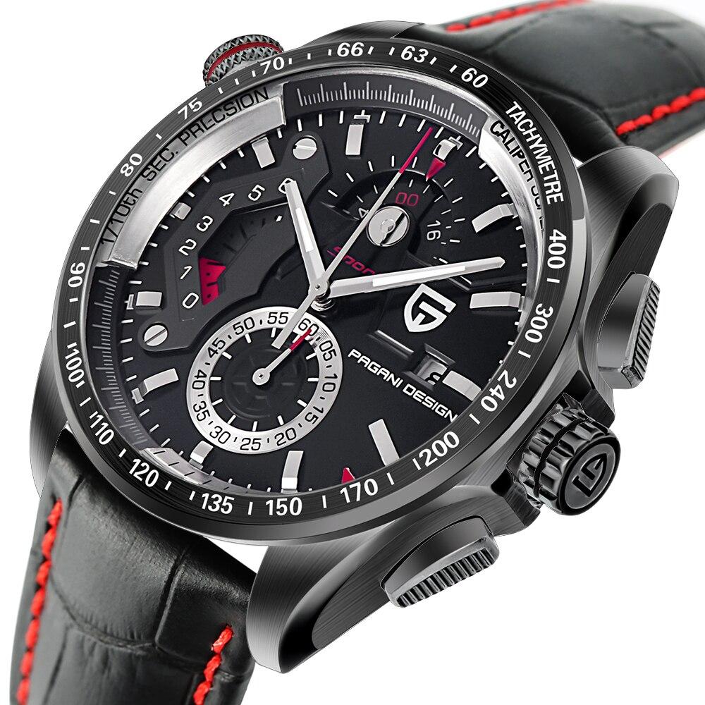 Оригинальный PAGANI Дизайн Хронограф Спортивные часы Япония движение нержавеющая сталь случае водостойкий кварцевые часы Relogio Masculino