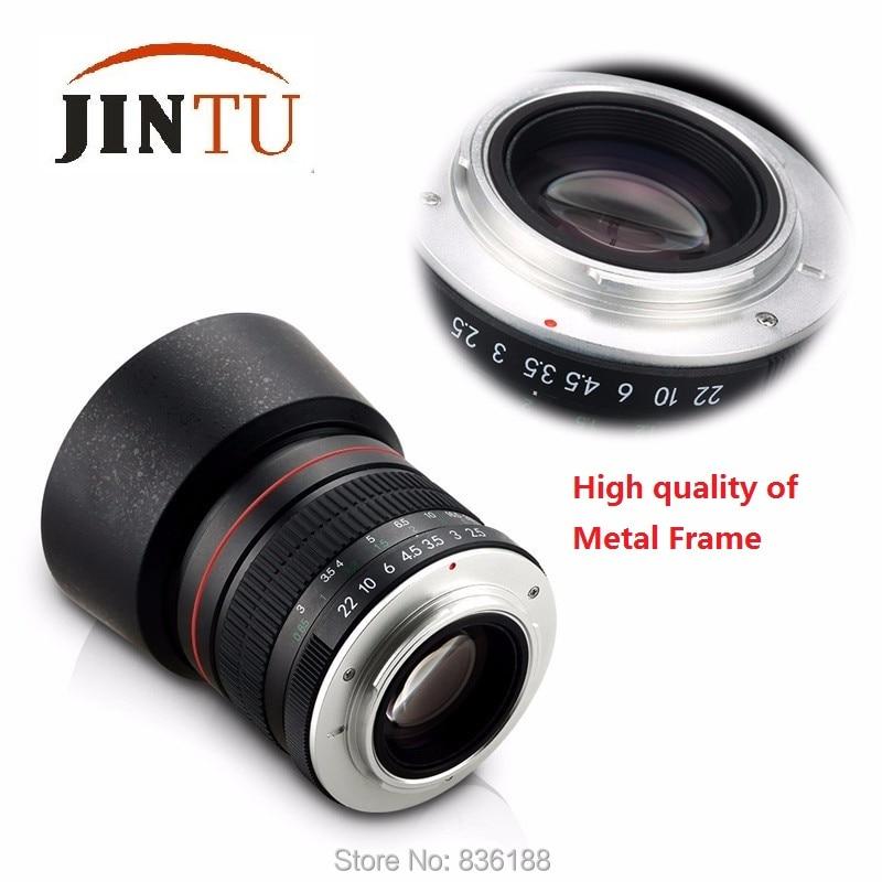 JINTU 85mm f/1.8 Portrait Asphérique Téléobjectif pour Nikon D5400 D750 D610 D5 D4 D4S D7200 D810 D800 DSLR Caméra