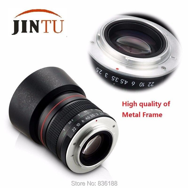 Jintu 85 мм f/1.8 портрет Асферические телеобъектив для Nikon D5400 d750 D610 D5 D4 D4S d7200 D810 d800 DSLR Камера