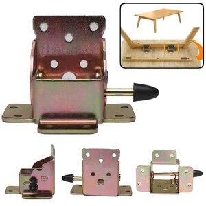 Image 1 - 4 stücke Eisen Klapptisch Bein Klammern Faltbare Für Tisch Stuhl Verlängerung Tische Faltbare Selbst Locking Falten Füße Möbel Scharniere