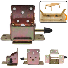 4pcs Iron Folding Table Leg Brackets Foldable For Chair Extension Tables Self Locking Fold Feet Furniture Hinges