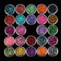 1 Set 24 Color Sequins Glitter Powder Dust gem Polish For UV GEL Acrylic Nail Arts Decorations DIY Manicure Design Tools