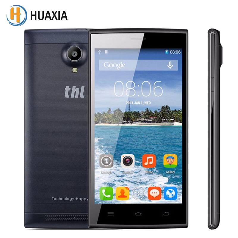 New Original THL T6C Quad Core 5.0 Inch 1G RAM 8G ROM Android 5.1 Smartphone Dual SIM Card Mobile Phone 5.0MP Camera Cell Phones