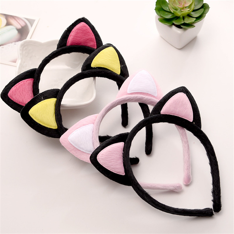 1 PC Cute New Women Girl Hair Bands Girls Kids Plush Fox Ears Hair Accessories Party Fashion Children Headband Handmade Headwear shanfu women zebra stripe sinamay fascinator feather headband fashion lady hair accessories blue sfc12441