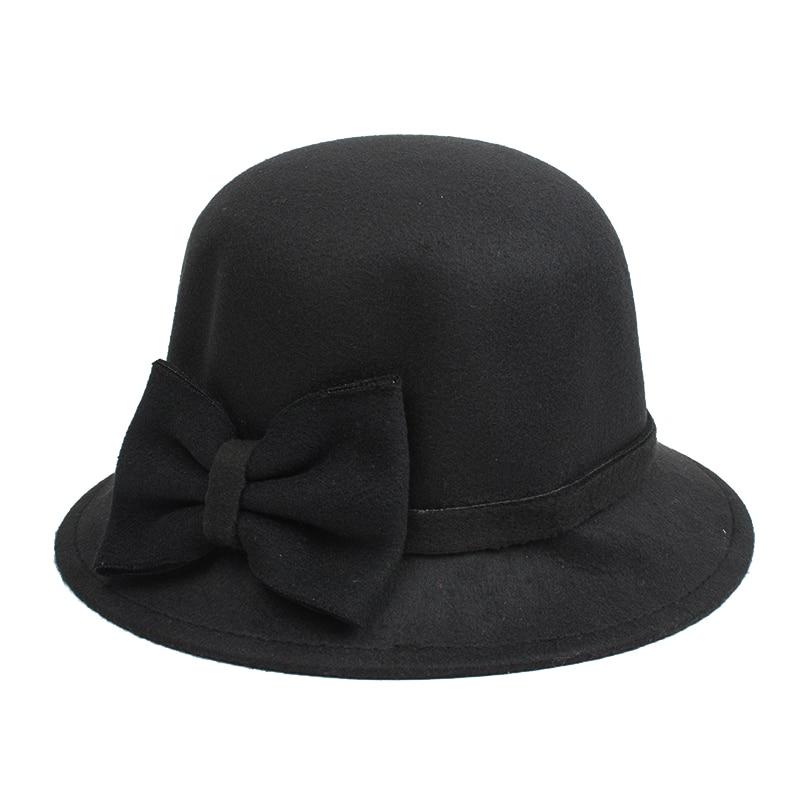 [DINGDNSHOW] 2019 Բրենդ Fedora Hat Մեծահասակ բուրդ - Հագուստի պարագաներ - Լուսանկար 5