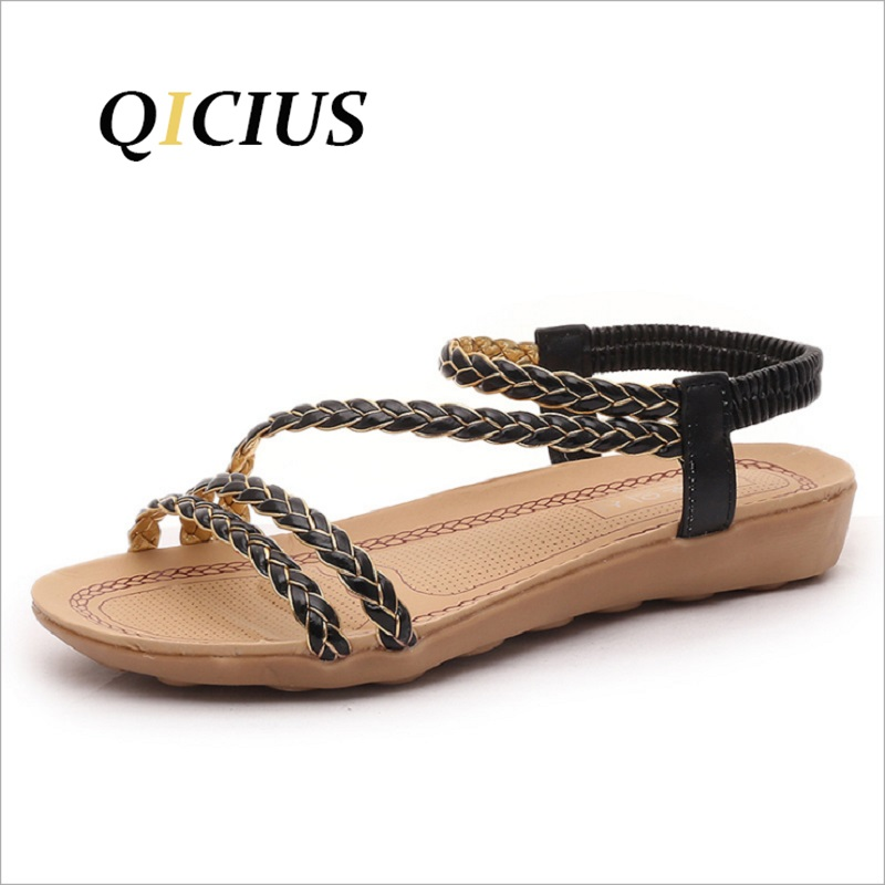 QICIUS 2018 Summer Shoes Flat Sandals Women Flat With Mixed Colors Fashion Sandals Comfortable Shoes Free Shipping B0039 free shipping candy color women garden shoes breathable women beach shoes hsa21