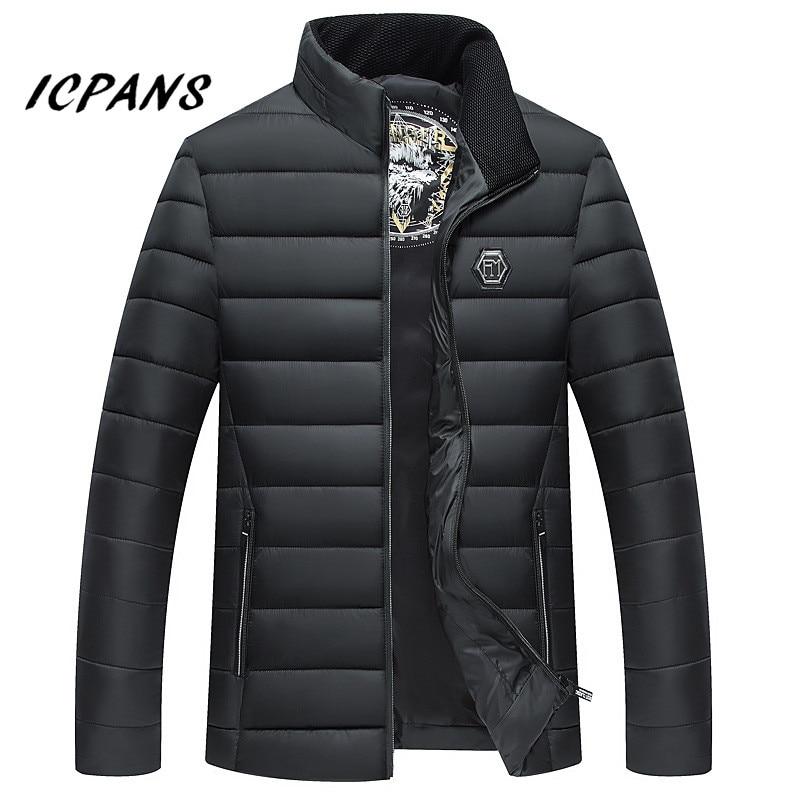ICPANS Men   Parkas   De Inverno Masculina Stand Collar Warm   Parkas   Man   Parka   Jacket Winter 2018 New Waterproof Size XXXL 4XL