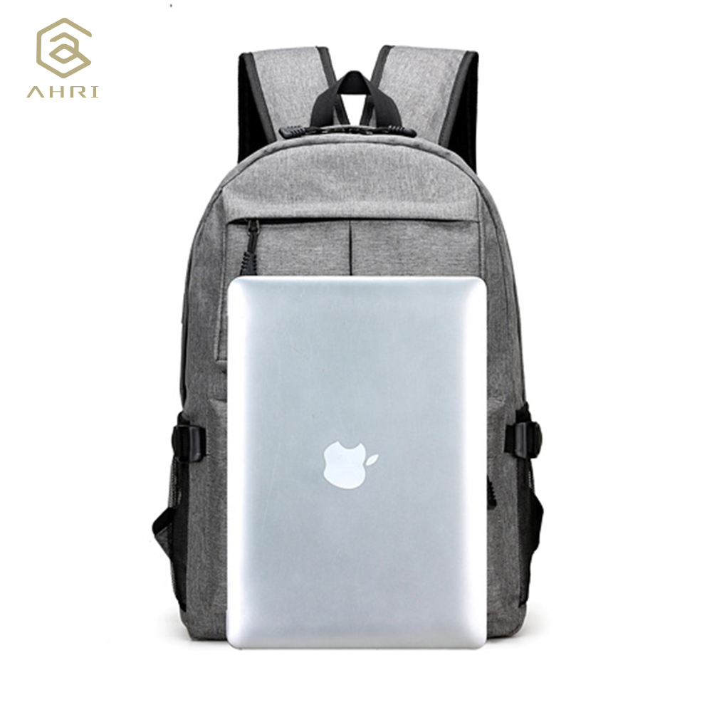 AHRI USB Unisex Design Backpack Book Bags for School Backpack Casual Rucksack Daypack Oxford Canvas Laptop Fashion Man Backpacks 4