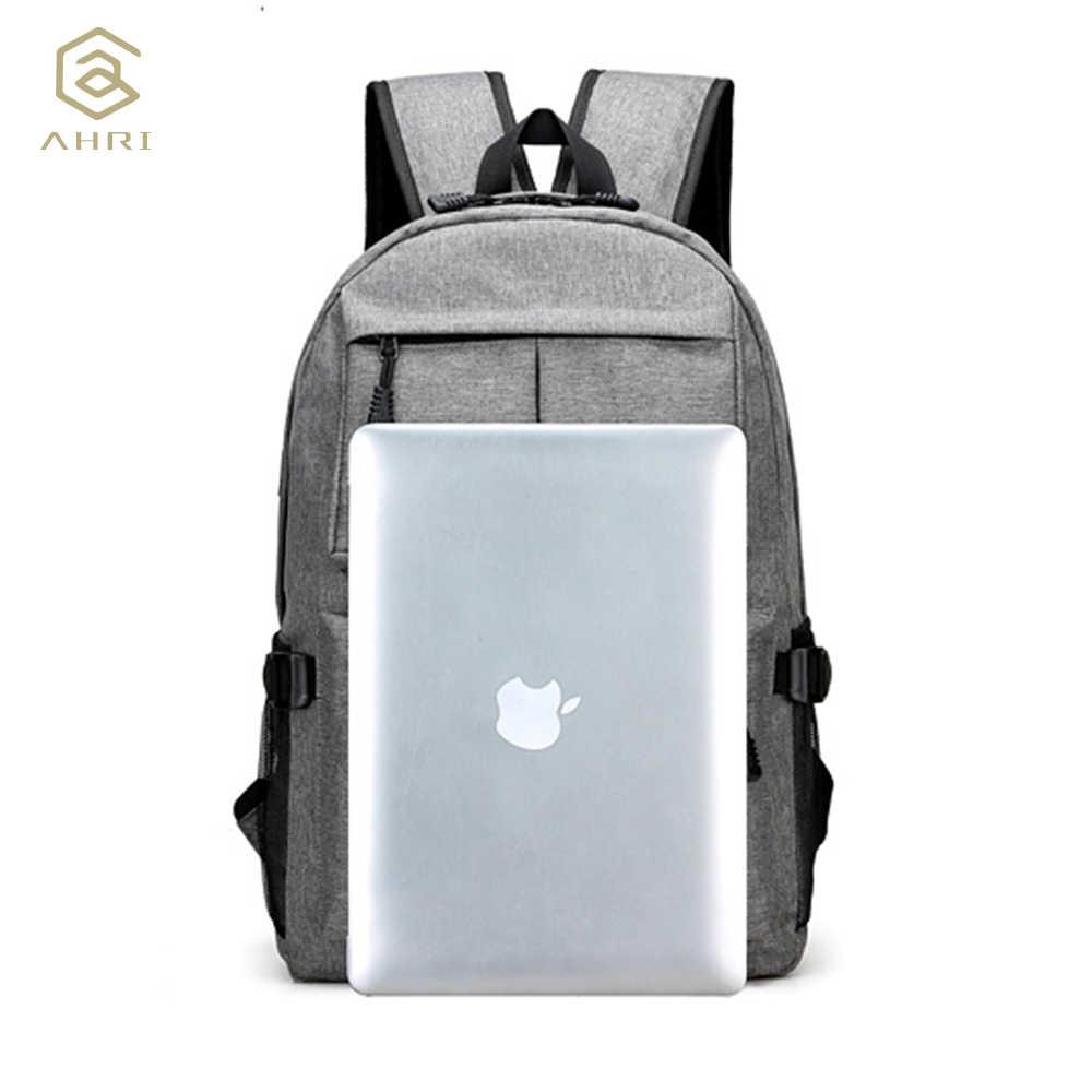 Ahri usb unisex design mochila sacos de livro para a escola mochila casual daypack oxford lona portátil moda homem mochilas
