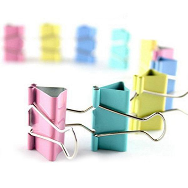 DCOS Colorful Metal Binder Clips, Assorted Colors And Size