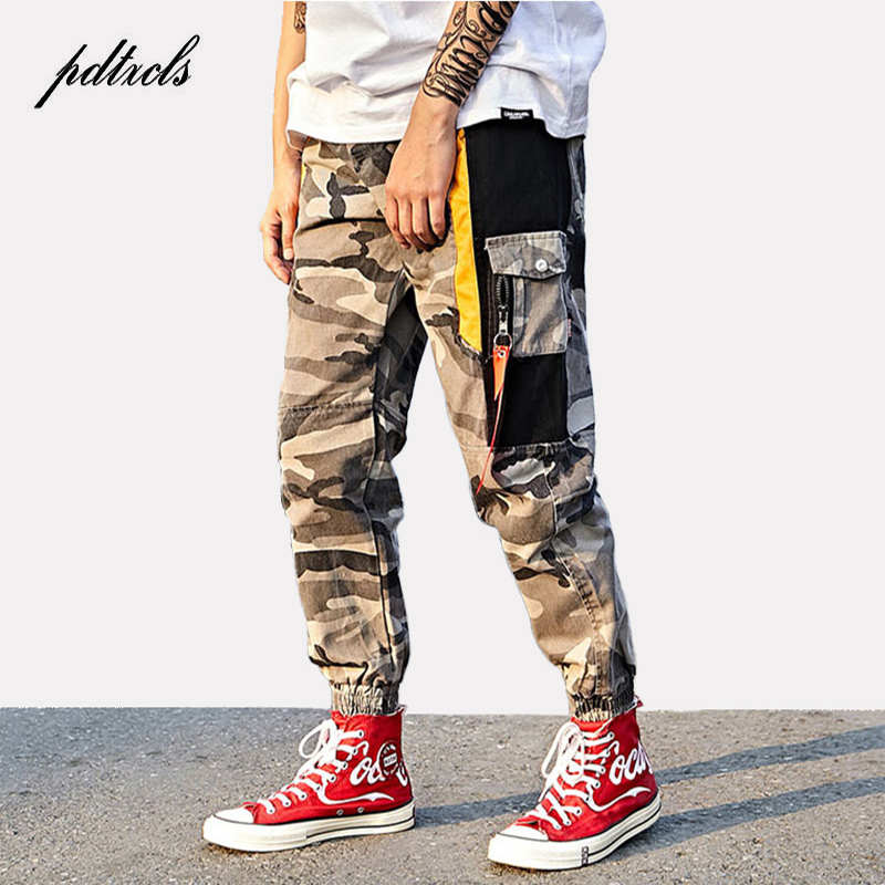 ecc3a1db8f 49New Color Block Camouflage Cargo Joggers Pants 2018 Mens Hip Hop Casual  fashion Camouflage Streetwear Ankle-Length Cotton Pant ~ Hot Deal June 2019