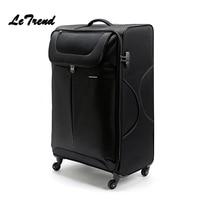 Letrend большой емкости 32 дюймов холщовый Спиннер для багажа на колесиках для мужчин сумка для путешествий с паролем для женщин