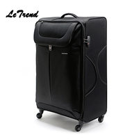Letrend Large Capacity 32 inch Canvas Rolling Luggage Spinner Wheel Suitcase Trolley Men Carry On Women password Travel Bag