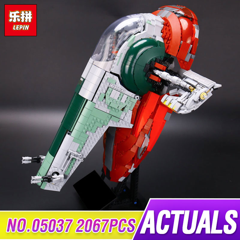 LEPIN 05037 Star UCS Wars Slave Model NO.1 2067pcs Building Block Bricks Educational Kits Compatible 75060 Children Gift lepin 05037 star wars ucs slave i slave no 1 model 2067pcs minifigure building block toys 100