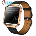 Excellent Quality 2016  Luxury Genuine Leather Watch Replacement Band Wrist Strap + Metal Frame For Fitbit Blaze Smart Watch