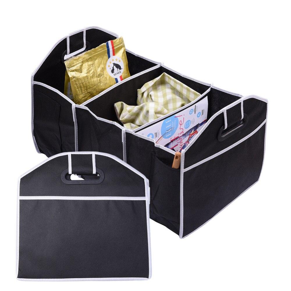 Многофункциональный Черный Авто Автомобиль Обратно Складной Ящик Для Хранения Принадлежностей Мешки Контейнера Автомобиля Портативный продуктовые сумки Инструменты Организатор