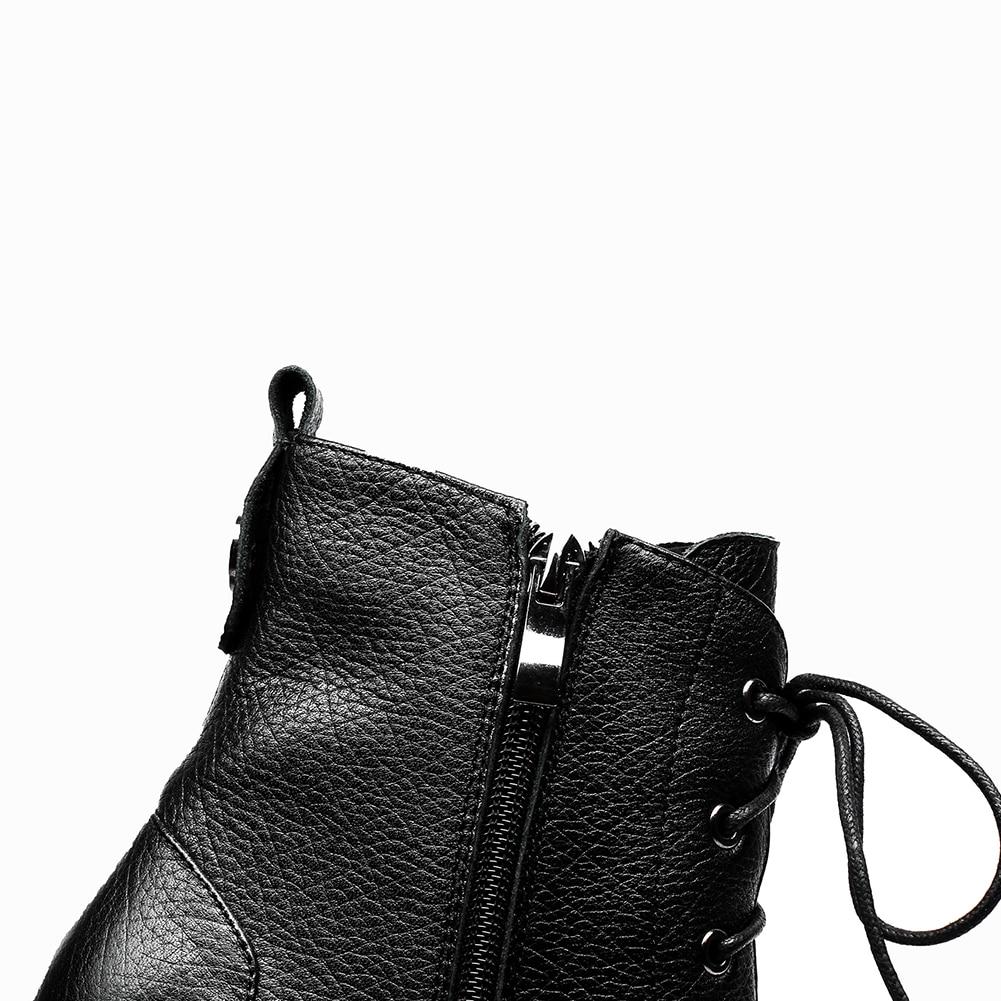 With Fur Fur La Femme Without Spéciale Véritable Vache Jusqu'à Doratasia Bottes black En Mode Offre Cheville Martin Black Cuir 2018 Dentelle Chaussures 0WgUv1qRv