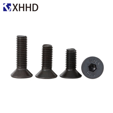 цена M2 M2.5 M3 M4 DIN7991 Hex Flat Socket Head Cap Screw Metric Thread Hexagon Allen Countersunk Machine Bolt Black Alloy Steel 10.9 в интернет-магазинах