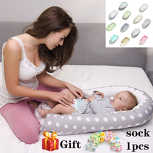 2019 New Cotton Baby Nest Bed Crib Portable Removable and Washable Travel for Children Infant Kids Cradle Gift