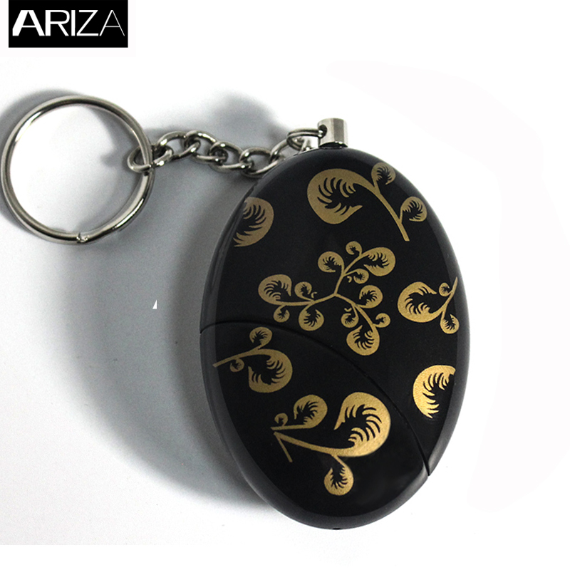 Ariza top selling self defense personal security alarm keychain emergency panic alarm with gold flower printing for women blueskysea 2k hd s60 body personal security