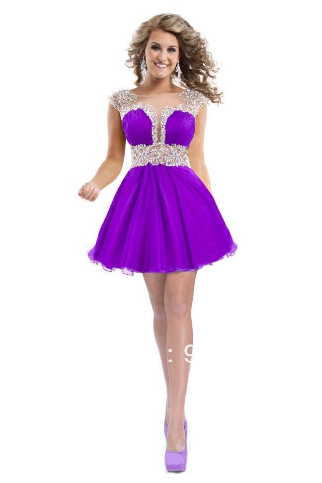Vestidos baile bajo Juniors cortos vestidos de noche elegantes de la ...