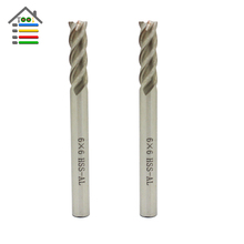 Cnc tool 4 Flutes 6mm Router Bit Vertical Milling Cutter HSS-Al Carbide End Mill Metal Engraving Bits
