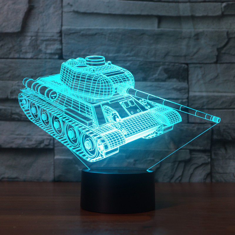 Led Lamps Humor Windmill 3d Illusion Lamp Led 3d Night Ligh 7 Color Change Remote Touch Desk Lamp Birthday Party Atmosphere Lamp As Toy Gift