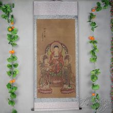 China Antique collection Calligraphy and painting Shakya Mani Portrait