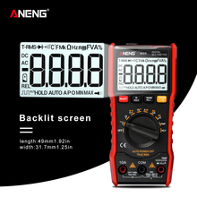 M20 True-RMS Digital Multimeter Auto Range 6000 counts With Backlight AC/DC Ammeter Voltmeter Ohm Transistor Tester multi meter large lcd trms clamp multimeter 6000 counts temperature auto range ac dc ammeter with backlight free shipping ng4s