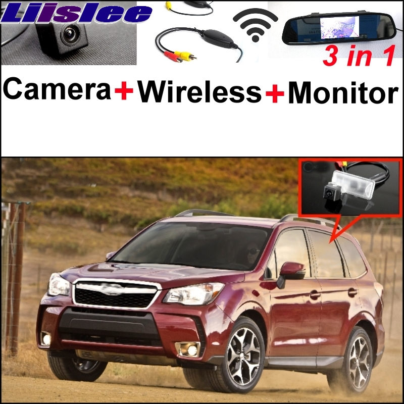 Liislee For Subaru Forester SJ 3 in1 Special Rear View Camera + Wireless Receiver + Mirror Monitor DIY Back Up Parking System стоимость