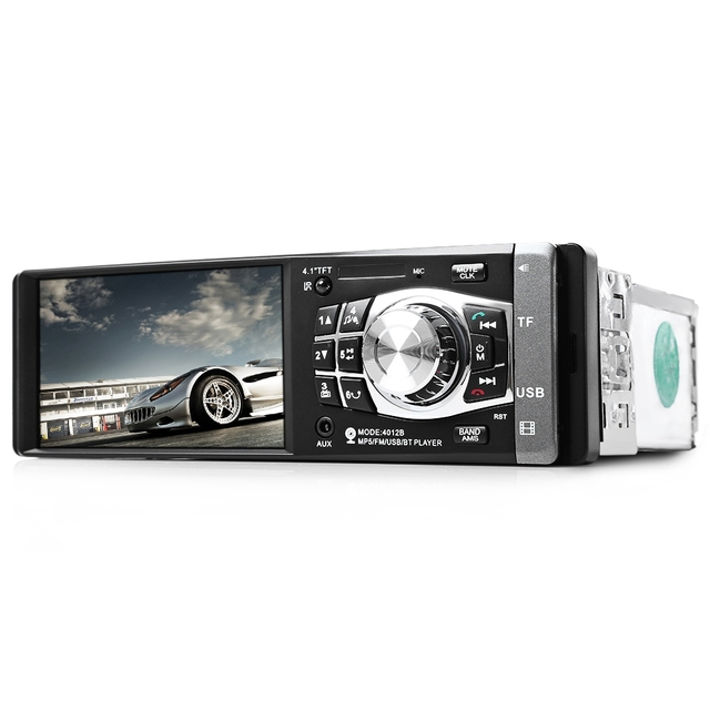 1 DIN 4.1″ Car Radio 4012B Mp4 Mp5 Player HD Video Player Bluetooth Remote Control Stereo Rear Camera Available