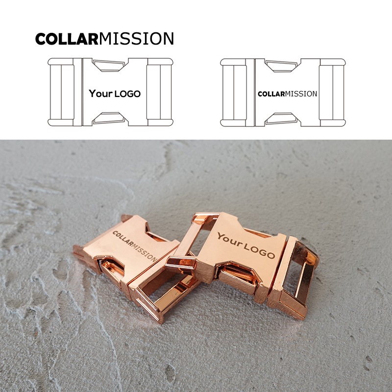10pcs lot Engraved buckle We provide laser engraving service customize LOGO 20mm rose golden CK20M