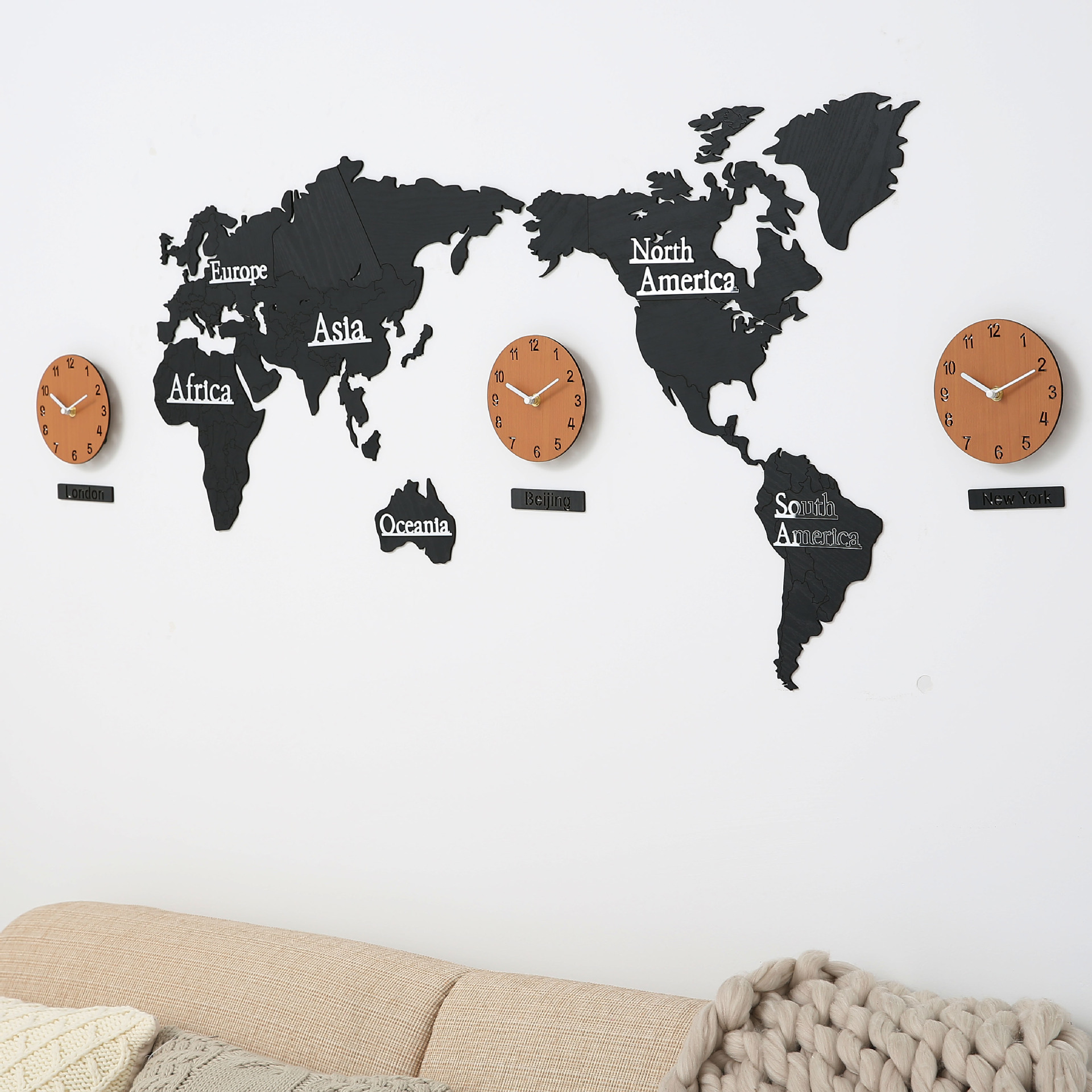 Diy 3d wooden mdf digital wall clock world map large wall clock wood diy 3d wooden mdf digital wall clock world map large cheap wall clock watch modern european gumiabroncs Image collections