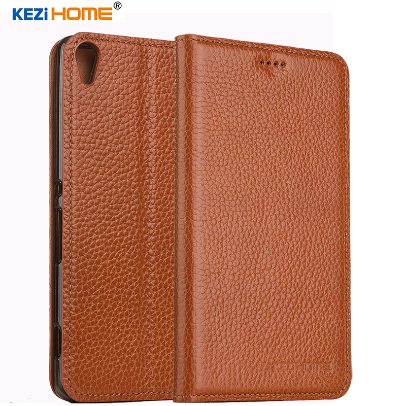 KEZiHOME for Sony Xperia XA case Flip genuine leather soft silicon back for Sony XA 5.0 inch cover