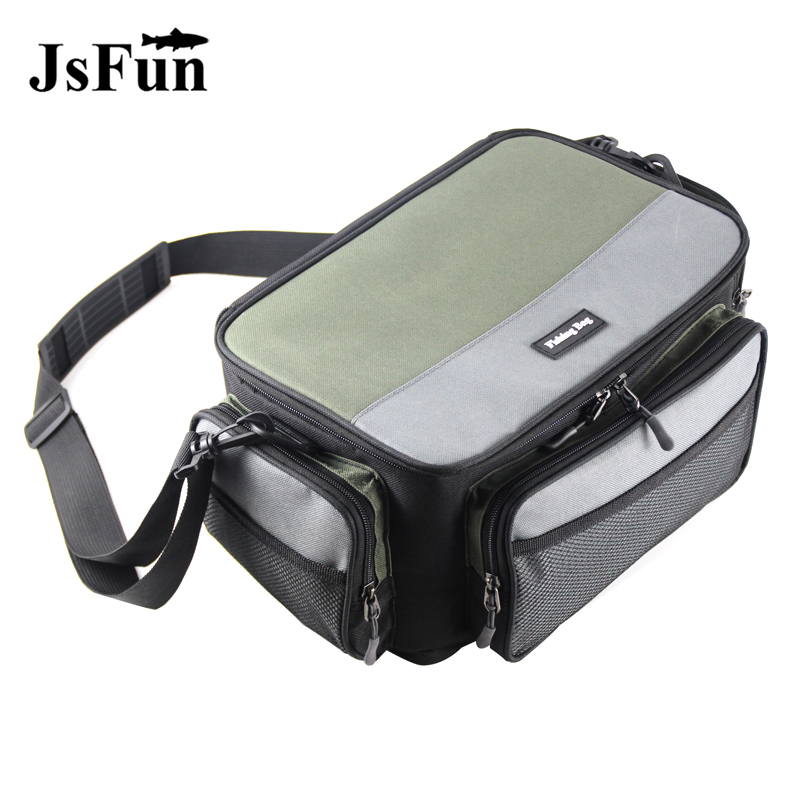 Multifunctional Fishing Bag Oxford Fishing Reel Lure Gear Storage Case Outdoor Carp Fishing Tackle Shoulder Crossbody Bags PJ139