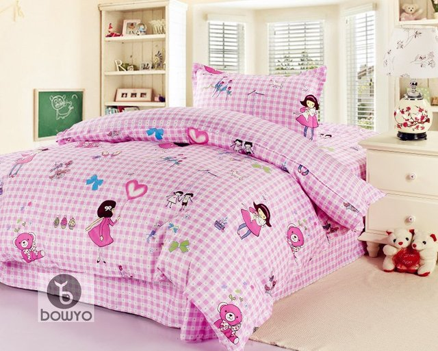 Pink Butterfly Flower Collection Children's Bedding 3pc Full / Queen Set for Girl's Bedroom
