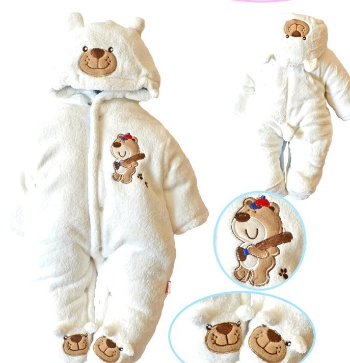 211a661cf 2017 New Arrive Baby Thicken Padded And Footed Winter Fleece Cartoon ...
