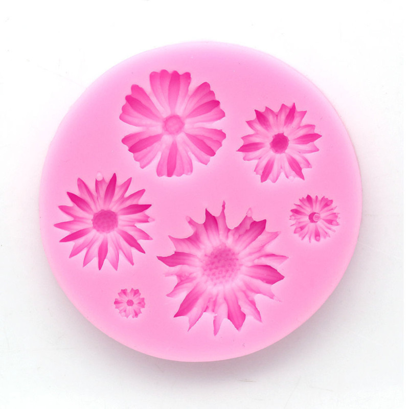 3d Flower Silicone Baking Molds Easy To Use Suitable for Chocolate And Ice cream 6
